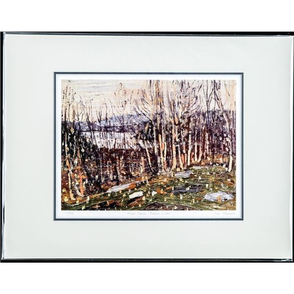 Tom Thomson (1877-1917) Giclee LE - First  Strike Issue No. 1/975 Matted, 'First Snow,  Canoe Lake'
