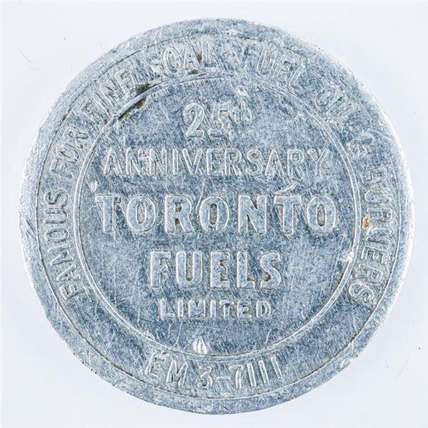 Rare - Toronto Fuels Ltd 25th Anniversary  Metal Token Circa 1950's