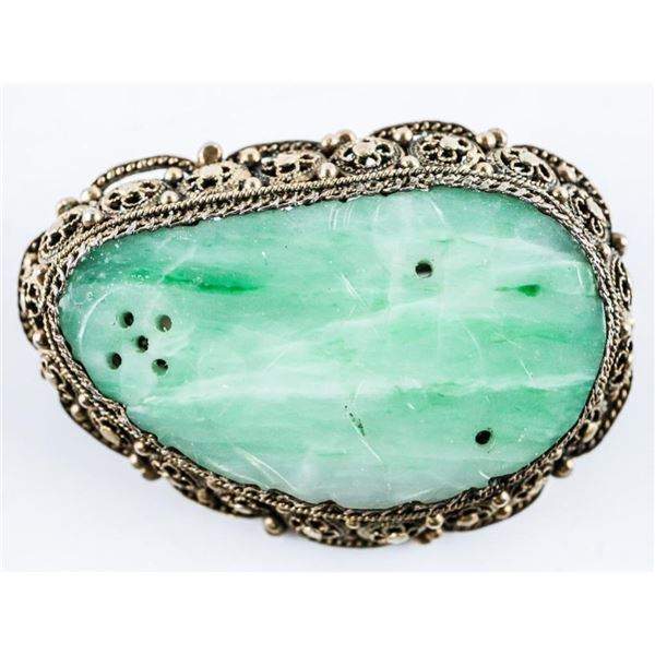 Estate Vintage Jade Broach/Pin