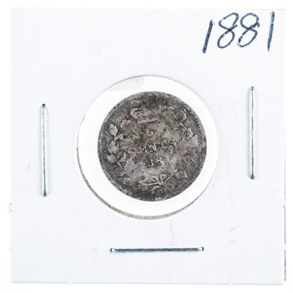1881 CANADA Silver 5 Cents