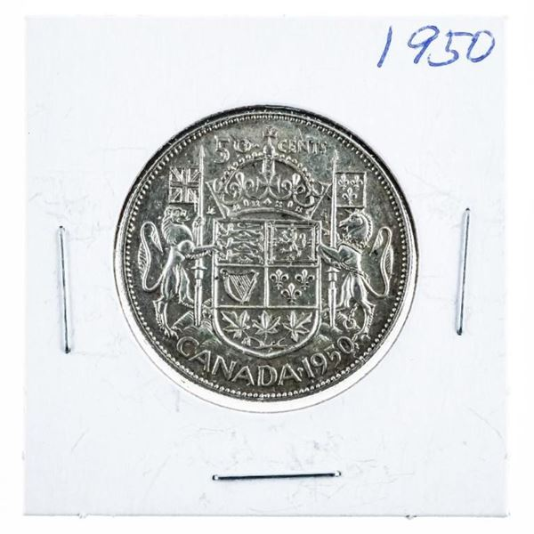 1950 CANADA Silver 50 Cents