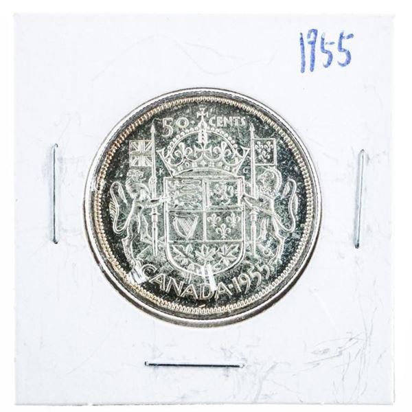 1955 CANADA Silver 50 Cents