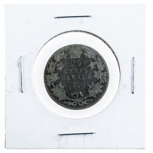 1910 Canada Silver 25 Cent