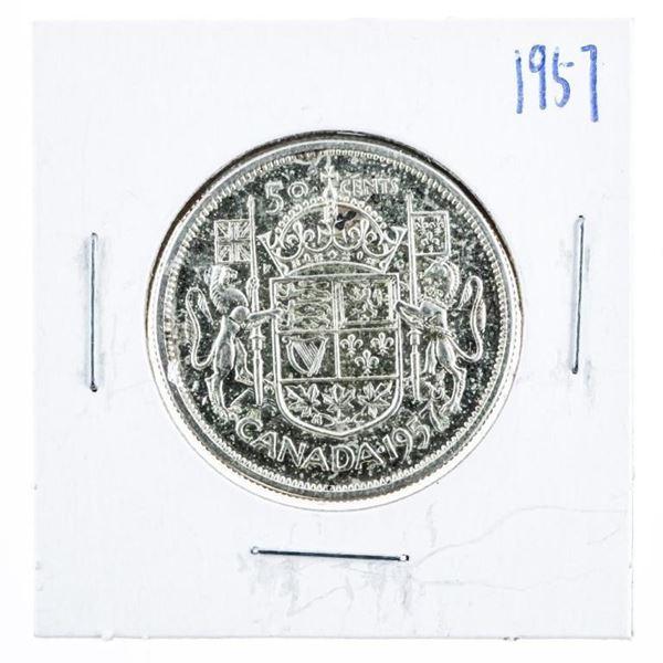 1957 CANADA Silver 50 Cents