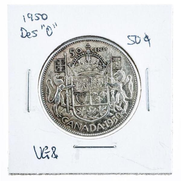 1950 CANADA Silver 50 Cents Design 'O'