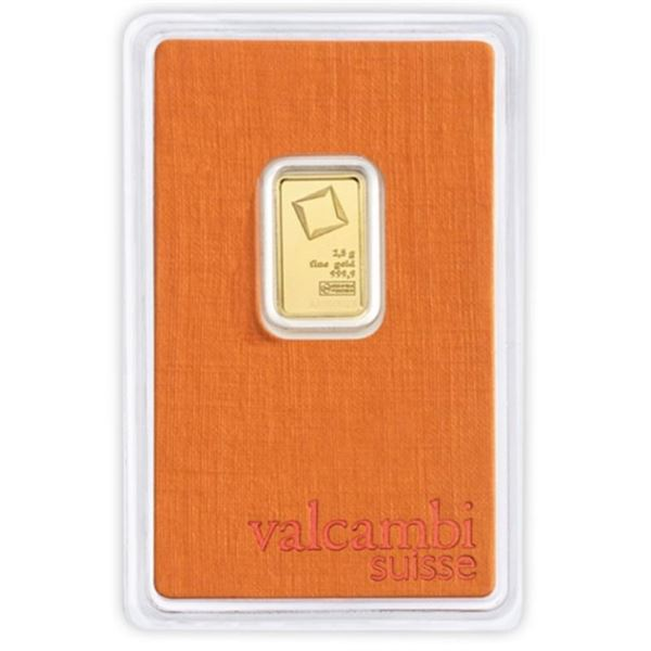 SUISSE Collector Bullion Bar, 2.5grams 999.9 Pure