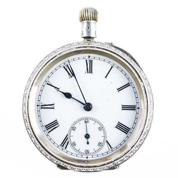 Estate 925 Sterling Silver Pocket Watch, NOT WORKI