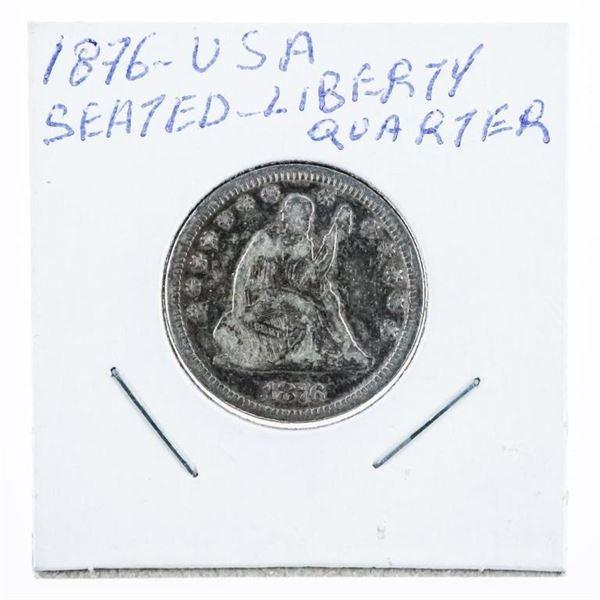 1876 USA Seated Liberty 25 Cents