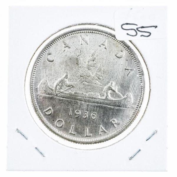 1936 Canada Silver Dollar MS65