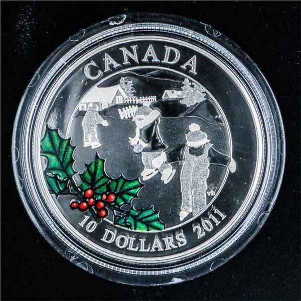 RCM 2011 'Little Skaters' .999 Fine Silver $10.00