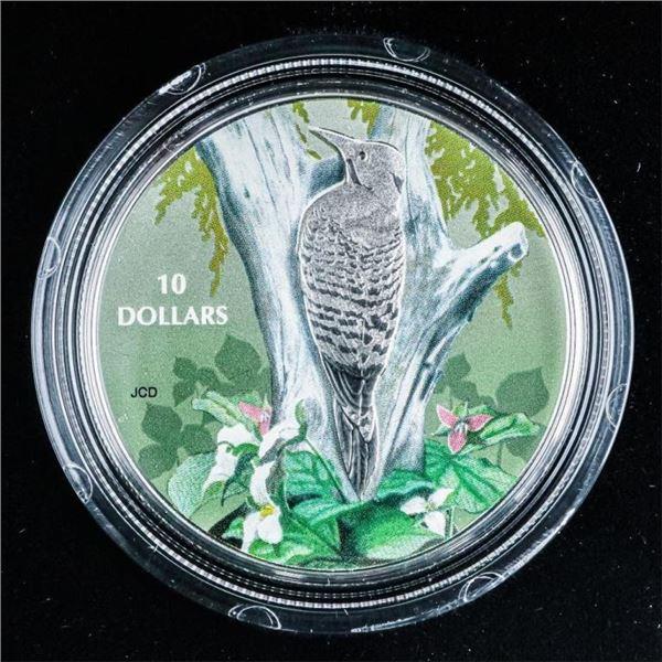 RCM 2017 'Northern Flicker' .999 Fine Silver $10.0