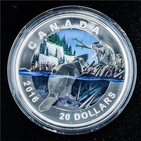 RCM 2016 'Beaver' .999 Fine Silver $20.00 LE/C.O.A