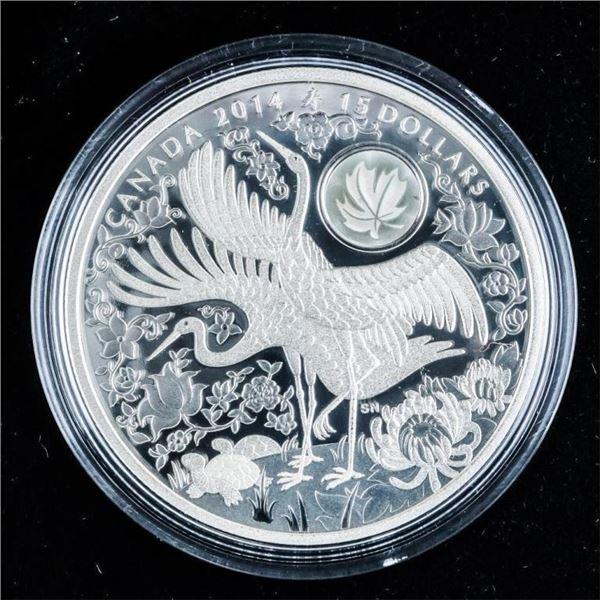 RCM 2014 'Maple of Longevity' .999 Fine Silver $15