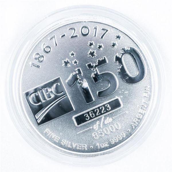 1867-2017 CIBC 150 Years .999 Fine Silver LE Coin