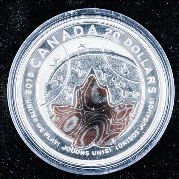 RCM 2015 PAN AM Games .999 Fine Silver $20.00 Coin