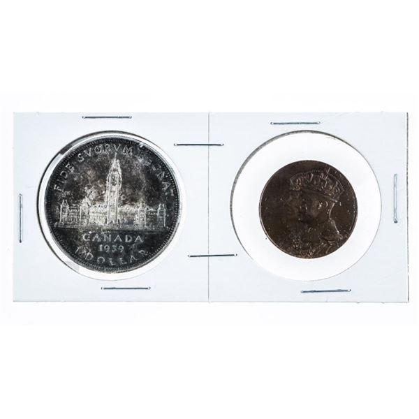 1939 Royal Visit to Canada Silver Dollar and Medal