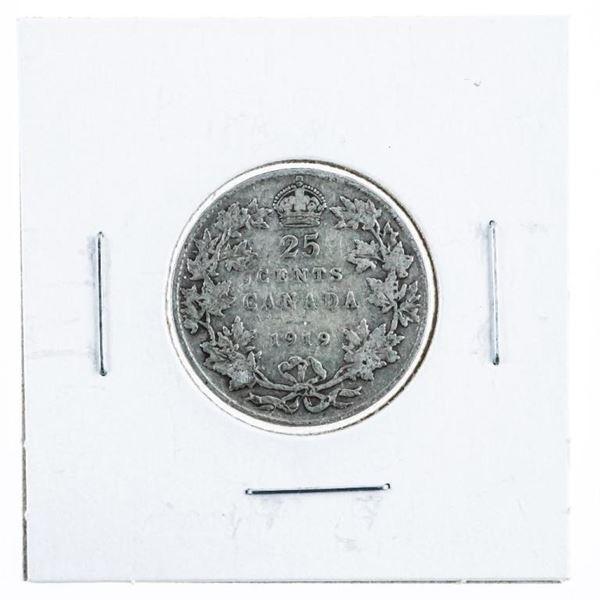 Canada 1919 Silver 25 Cents