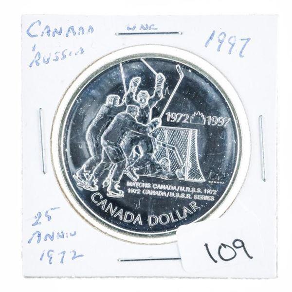 1997 Canada/Russia Silver Dollar 925 Silver
