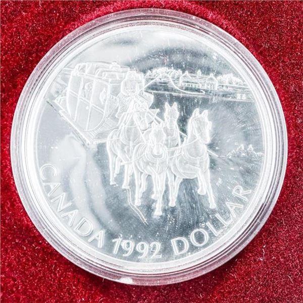 1992 CANADA Silver Dollar 925 Silver