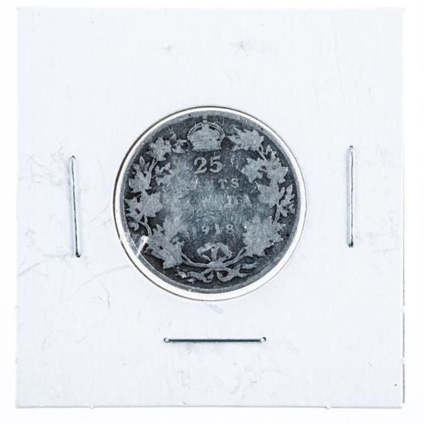 Canada 1918 Silver 25 Cents