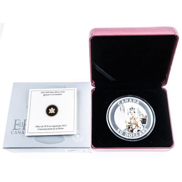 RCM 2013 'Queen's Coronation' .999 $50.00 Coin. LE