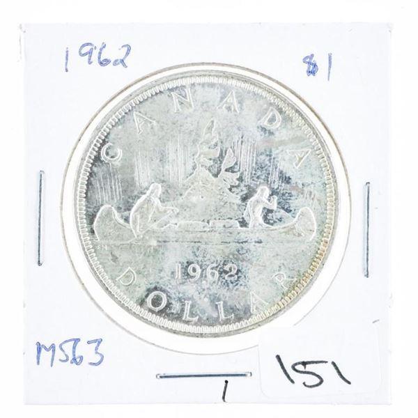 1962 Canada Silver Dollar MS63