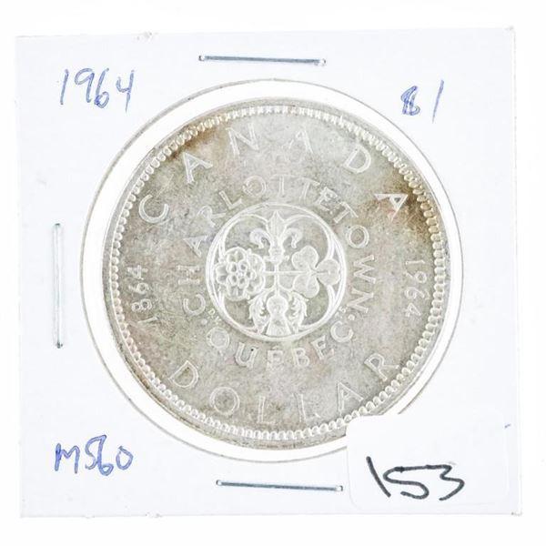 1964 Canada Silver Dollar MS60