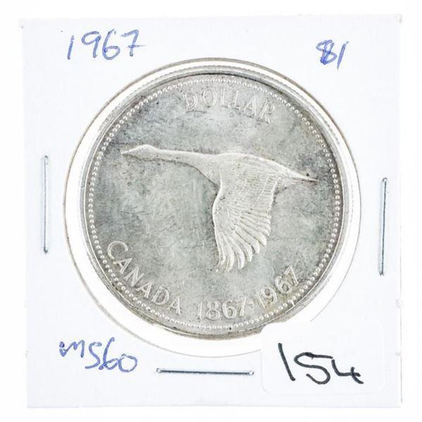 1967 Canada Silver Dollar MS60