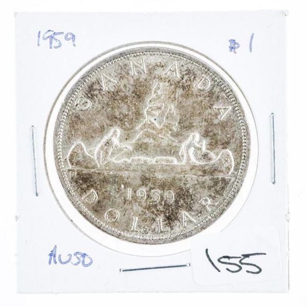 1959 Canada Silver Dollar AU50
