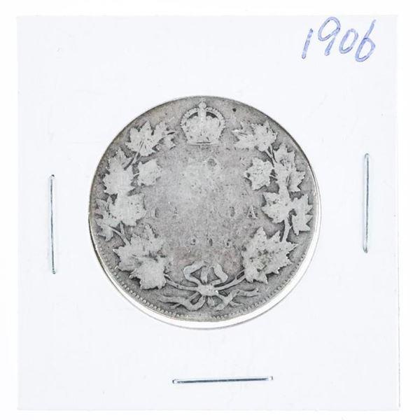 1906 CANADA Silver 50 Cent