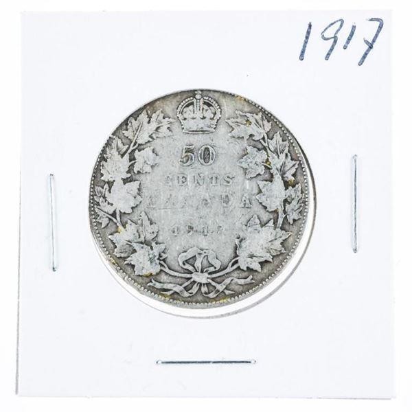1917 Canada Silver 50 Cent