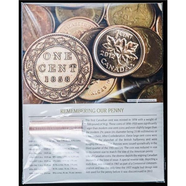 Remembering Our Penny 1858-2012 - Roll of 2012 Fin