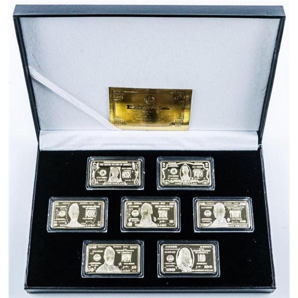 7pc Collection - Bars Gold Plated Novelty Bar Repl