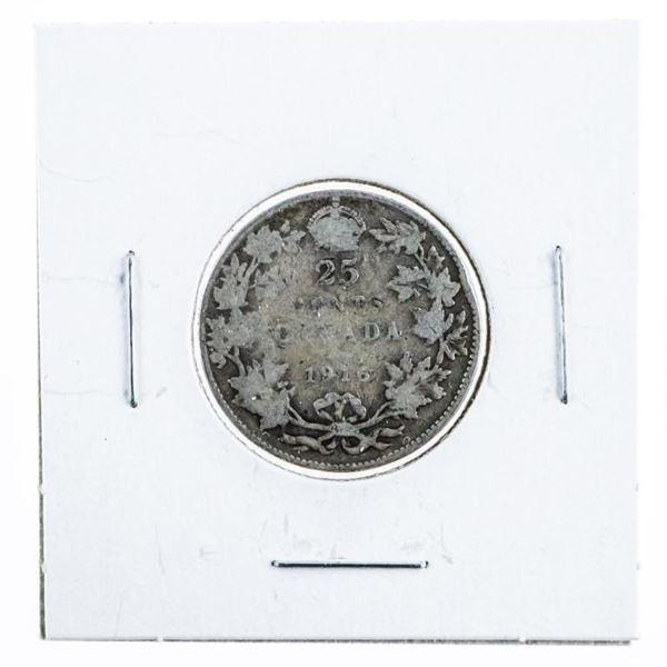 1906 Canada Silver 25 Cent
