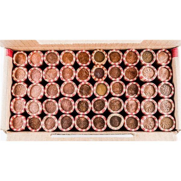 Master Mint Box Canada 1 Cent Coins 50 Rolls Mixed