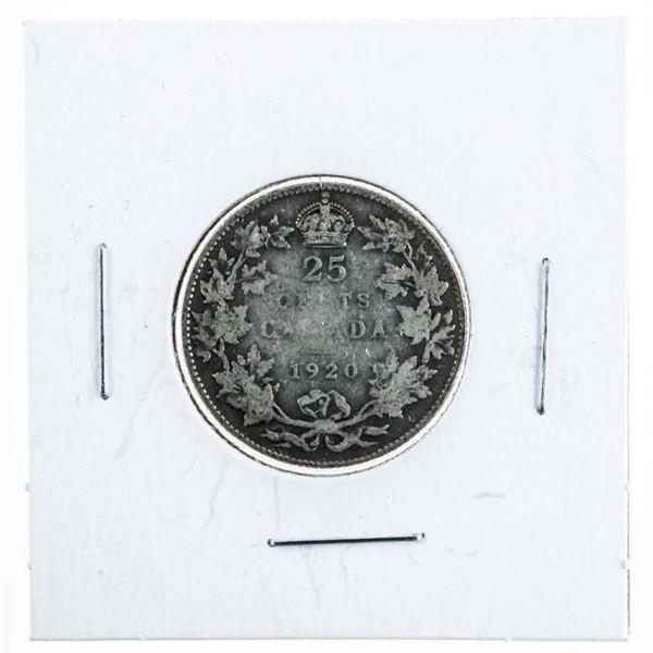1920 Canada Silver 25 Cent