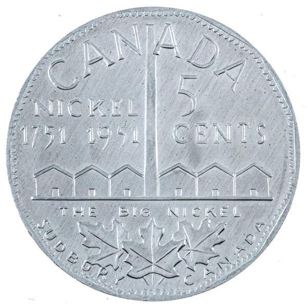 1751-1951 The Big Nickel Aluminum Coin