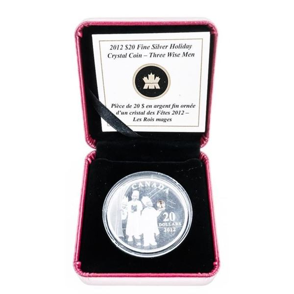 RCM 2012 'Silver Holiday Crystal Coin - The Three
