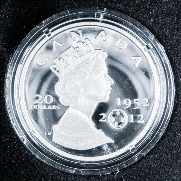 RCM 2012 Queen's Diamond Jubilee .999 Fine Silver