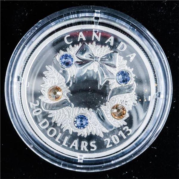 RCM 2013 'Holiday Wreath' .999 Fine Silver $20.00