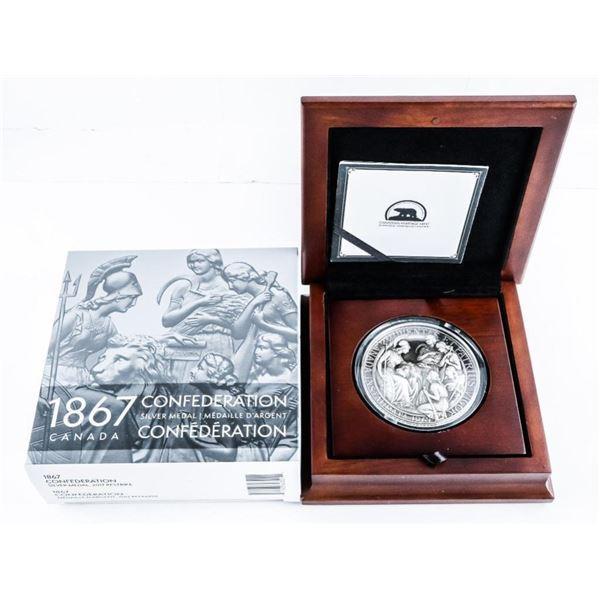 1867 Confederation Medal 2017 Restrike .999 Fine S