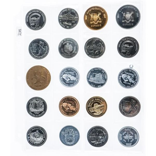 Group of (20) Trade Dollars and Tokens/Medals