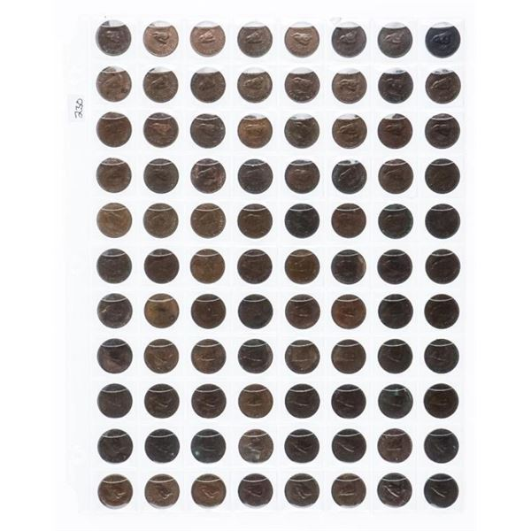 Group of (88) Great Britain Farthing Coins 1940's