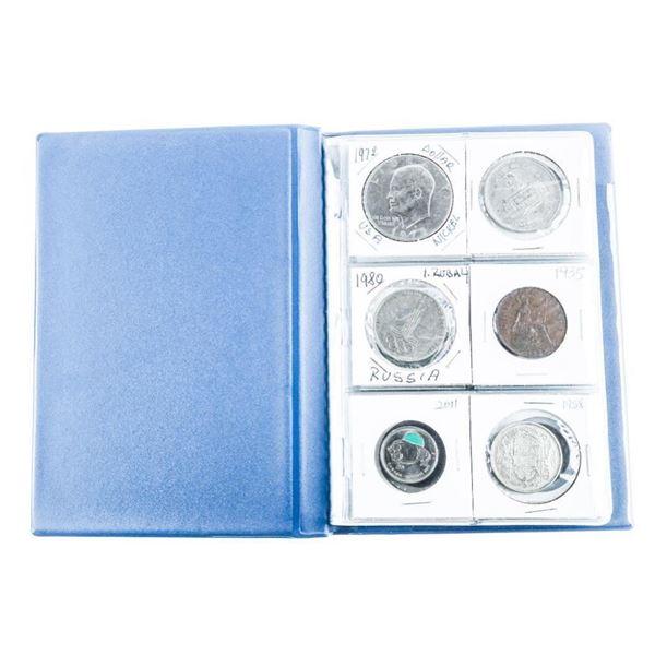 Coin Stock Book (24) World Coins - Includes Silver