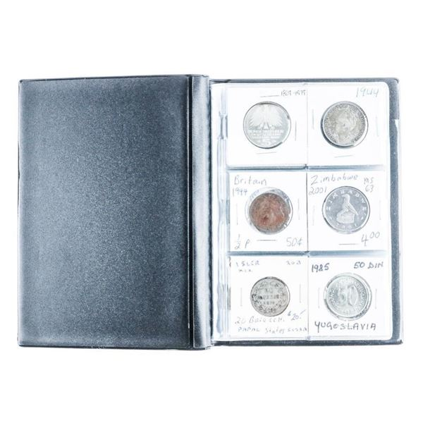 Coin Stock Book (24) World Coins