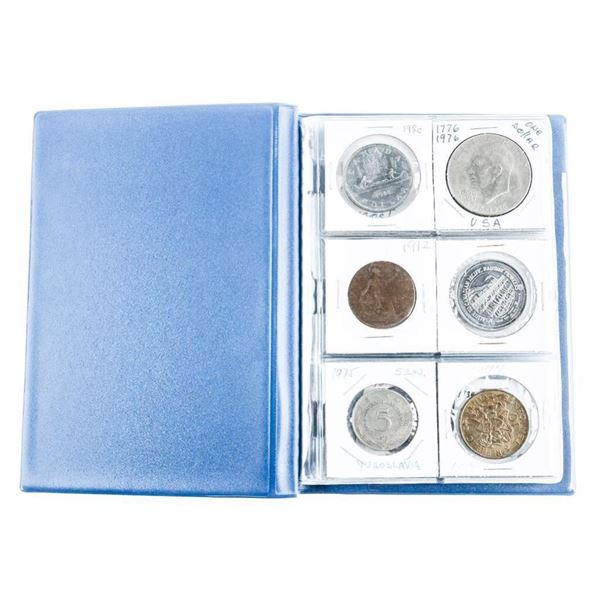Coin Stock Book (24) World Coins with Silver