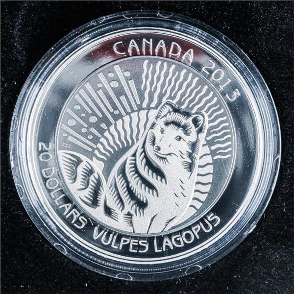 RCM 2013 - Untamed Arctic Fox .999 Fine Silver $20
