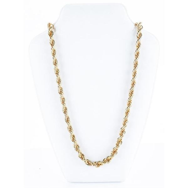 """24"""" 18kt Gold Plated Rope Necklace"""