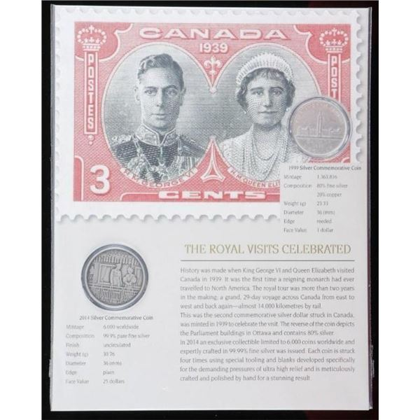 The Royal Visits Celebrated 1939 Silver Dollar, 20
