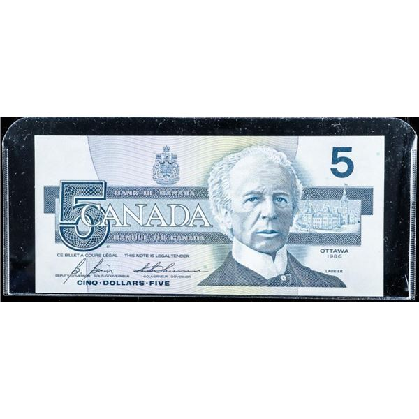 Bank of Canada 1986 5.00 GEM UNC (AND)
